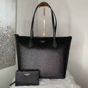 ✨ Kate Spade Black LG Joeley Tote / Wallet Set ✨